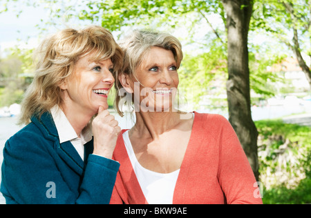 Two women observing - Stock Photo