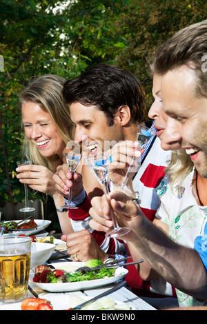 Four happy friends - Stock Photo