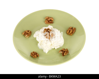 Walnuts with Cottage Cheese - Stock Photo