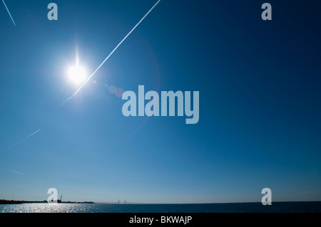 View over water - Stock Photo
