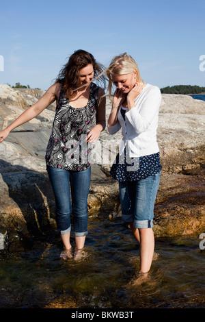Girls in water - Stock Photo