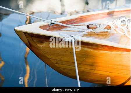 Closeup on tied up boat - Stock Photo