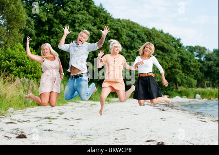 Beachjump - Stock Photo