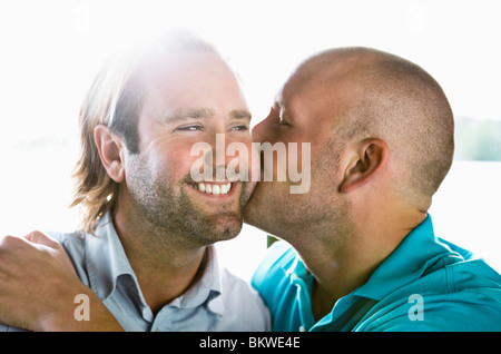Two happy gay men - Stock Photo