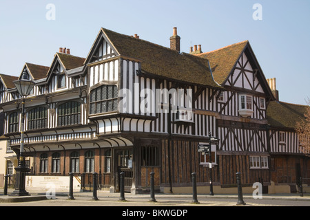 The tudor merchant house in southampton hampshire stock photo