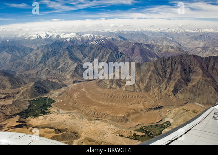 Aerial view of Himalaya - Stock Photo