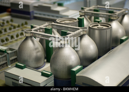 A model of the Newtown Creek Sewage Treatment Plant seen in the new Visitors Center in New York - Stock Photo