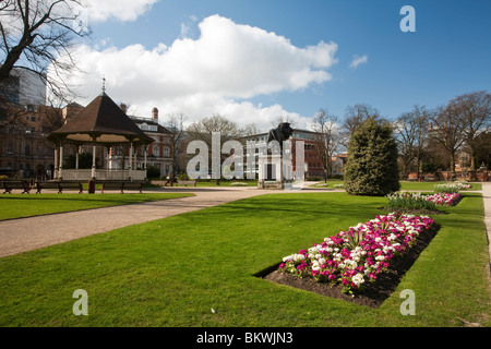 Spring in Forbury Gardens in Reading town centre, Berkshire, Uk - Stock Photo