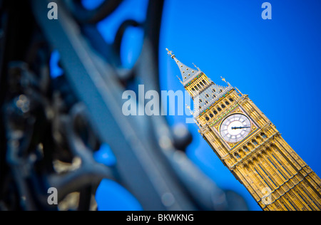 SHALLOW FOCUS ABSTRACT IMAGE OF THE CLOCK TOWER KNOWN AS BIG BEN LONDON - Stock Photo