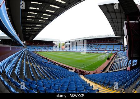View inside Villa Park Stadium, Birmingham. Home of Aston Villa Football Club - Stock Photo