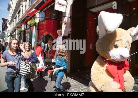 250th anniversary of Hamleys toystore, Regent Street, London UK - Stock Photo