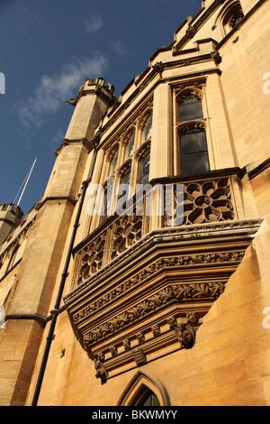 Oriel Window in Trinity Lane, Cambridge, England, UK - Stock Photo