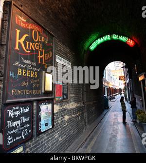 King's Head Yard, Southwark, London, UK. - Stock Photo