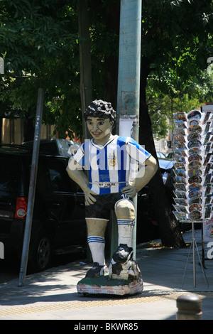 A statue of Diego Maradona found in La Boca, Buenos Aires - Stock Photo
