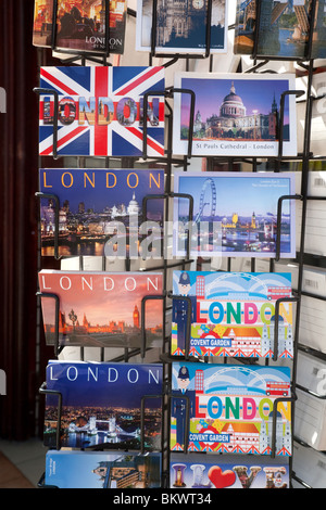 Postcards of London for sale, Oxford street, London UK - Stock Photo