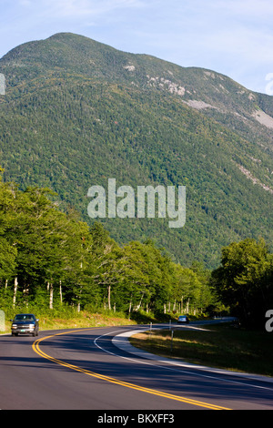 US 302 in New Hampshire's White Mountains.  Crawford Notch State Park. - Stock Photo