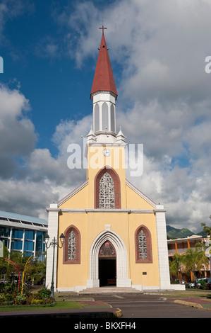 Papeete Cathedral, Tahiti - Stock Photo
