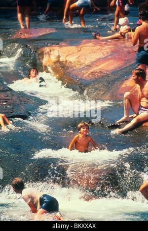 Teen Boy Male Bathing Suit Shirtless Slide Water River