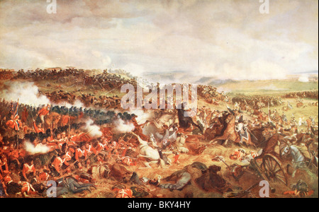 Charge of The French Cuirassiers at Waterloo - Stock Photo