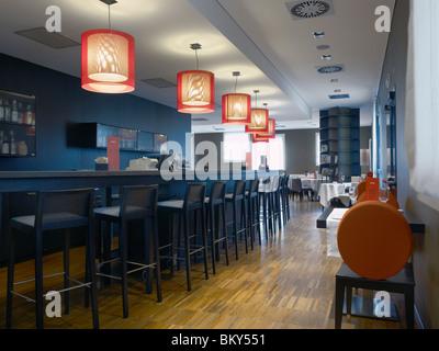 Restaurant bar in a  hotel - Stock Photo