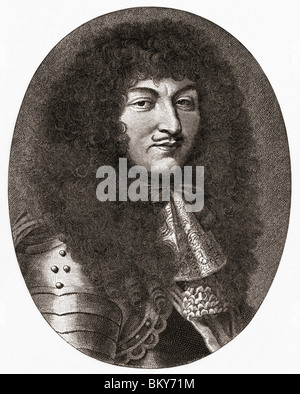 Louis XIV, 1638 to 1715. King of France and Navarre. - Stock Photo