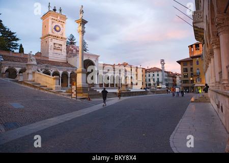 Loggia di San Giovanni on the Piazza della Liberta in Udine, Friuli-Venezia Giulia, Italy - Stock Photo