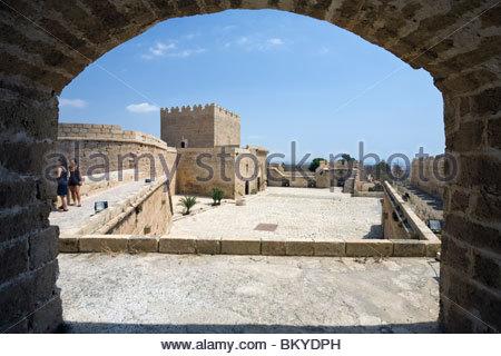 Spain, Andalusia, Almeria, the Alcazaba fortress, Torre del Homenaje Stock Ph...