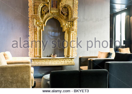 EME Fusionhotel in the El Centro district with unique view towards Stana Maria Cathedral, Sevilla, Province Sevilla, - Stock Photo