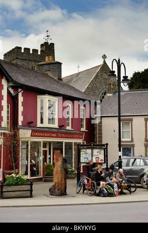 Tregaron village square and Rhiannon Welsh Gold centre , Ceredigion Wales UK - Stock Photo