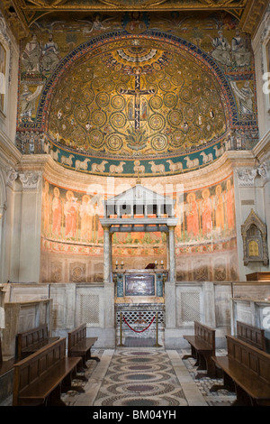 Apse of San Clemente Basilica, Rome - Stock Photo