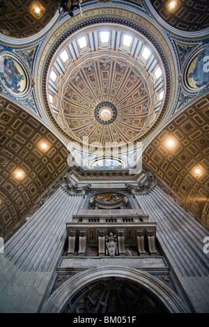Dome of Saint Peter's Basilica, Vatican - Stock Photo