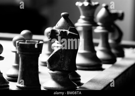 Chess game from the whites perspective - Stock Photo