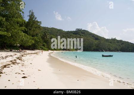 Port Launay Beach, Mahe Island, Seychelles - Stock Photo