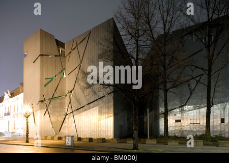 Jewish Museum, by architect Daniel Libeskind, Lindenstrasse 9-14, Berlin, Kreuzberg, Germany, Europe - Stock Photo