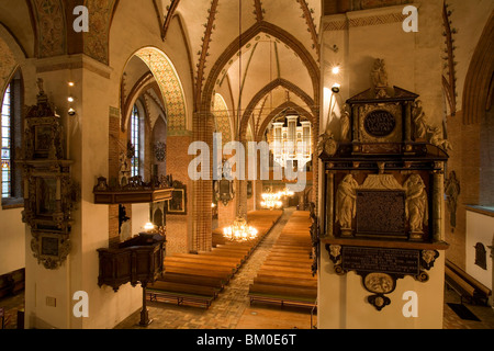 View of the organ in Schleswig Cathedral, Schleswig, Schleswig-Holstein, Germany, Europe - Stock Photo