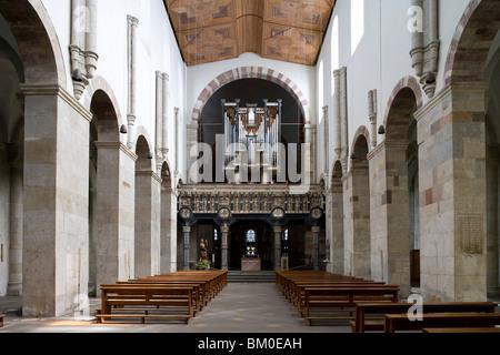 Interior view of the church St. Maria im Kapitol, Cologne, North Rhine Westphalia, Germany, Europe - Stock Photo