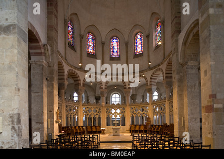 Interior view of church St. Maria in Kapitol, Cologne, North Rhine Westphalia, Germany, Europe - Stock Photo