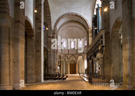 Interior view of the church of St. Maria in Kapitol, Cologne, North Rhine Westphalia, Germany, Europe - Stock Photo