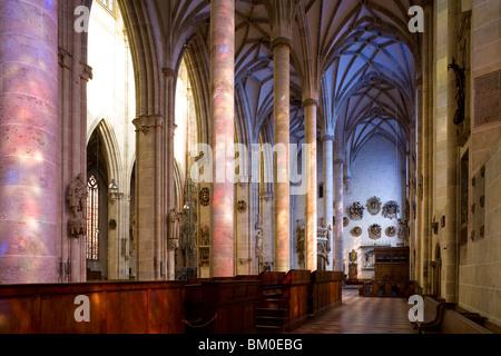 Interior view of Ulm Minster, Ulmer Muenster, Ulm, Baden-Wuerttemberg, Germany, Europe