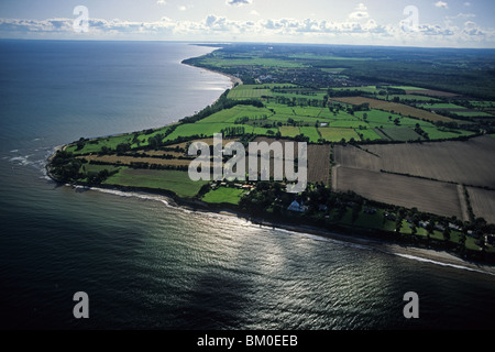 aerial photo, near Dahme, Luebeck Bay, Baltic Sea, Schleswig Holstein, northern Germany - Stock Photo