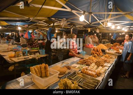 Baked Goods at Night Market, Pasar Malam Night Market, Bandar Seri Begawan, Brunei Darussalam, Asia - Stock Photo