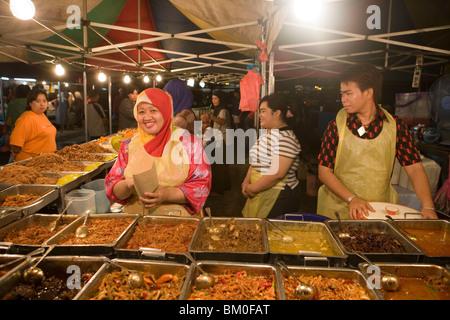 Night Market Fast Food, Pasar Malam Night Market, Bandar Seri Begawan, Brunei Darussalam, Asia - Stock Photo