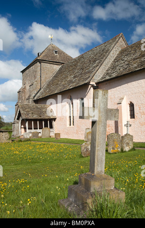 UK, England, Herefordshire, Kempley, St Mary's ancient church, built around 1075 - Stock Photo