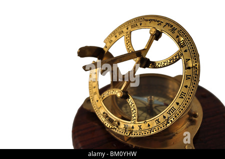Isolated Brass compass - Stock Photo