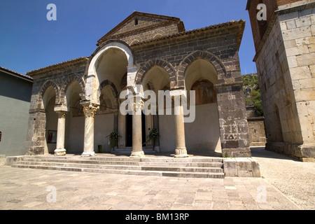 Basilica of Sant Angelo in Formis, Capua, Campania, Italy, Europe - Stock Photo