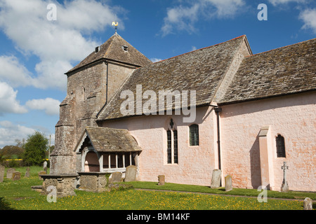UK, England, Herefordshire, Kempley, St Mary's ancient church, built around 1075 by Hugh de Lacy - Stock Photo
