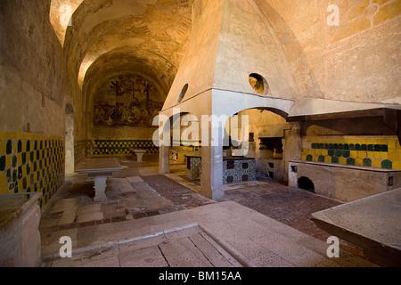 Kitchen of Certosa di San Lorenzo, Padula, Vallo di Diano, Salerno, Campania, Italy, Europe - Stock Photo
