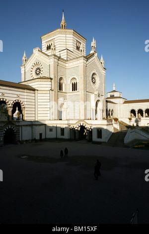The Famedio entry building, Monumental Cemetery, Architect Carlo Maciachini, Milan, Lombardy, Italy, Europe - Stock Photo