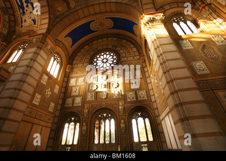 The Famedio building, Monumental Cemetery, Architect Carlo Maciachini, Milan, Lombardy, Italy, Europe - Stock Photo