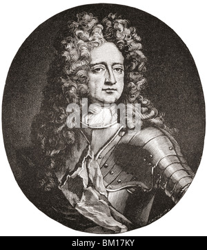 Charles Mordaunt, 3rd Earl of Peterborough and 1st Earl of Monmouth, 1658 to 1735. English nobleman and military - Stock Photo